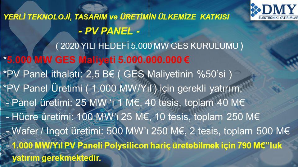 ( 2020 YILI HEDEFİ 5.000 MW GES KURULUMU )