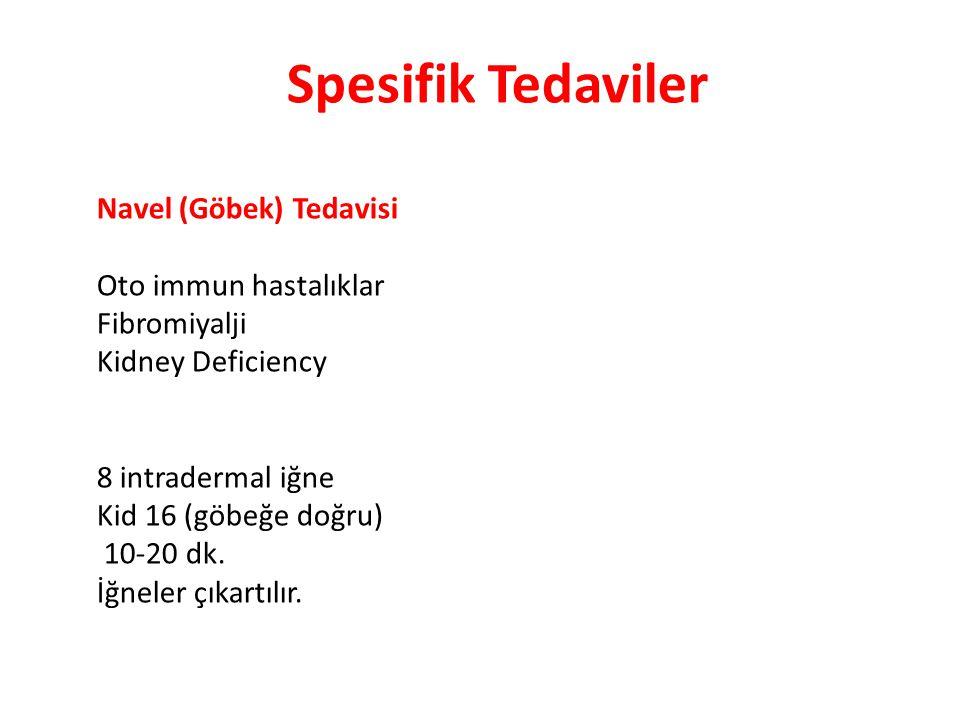 Spesifik Tedaviler Navel (Göbek) Tedavisi Oto immun hastalıklar