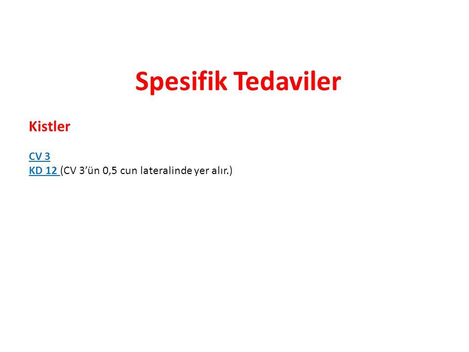Spesifik Tedaviler Kistler CV 3