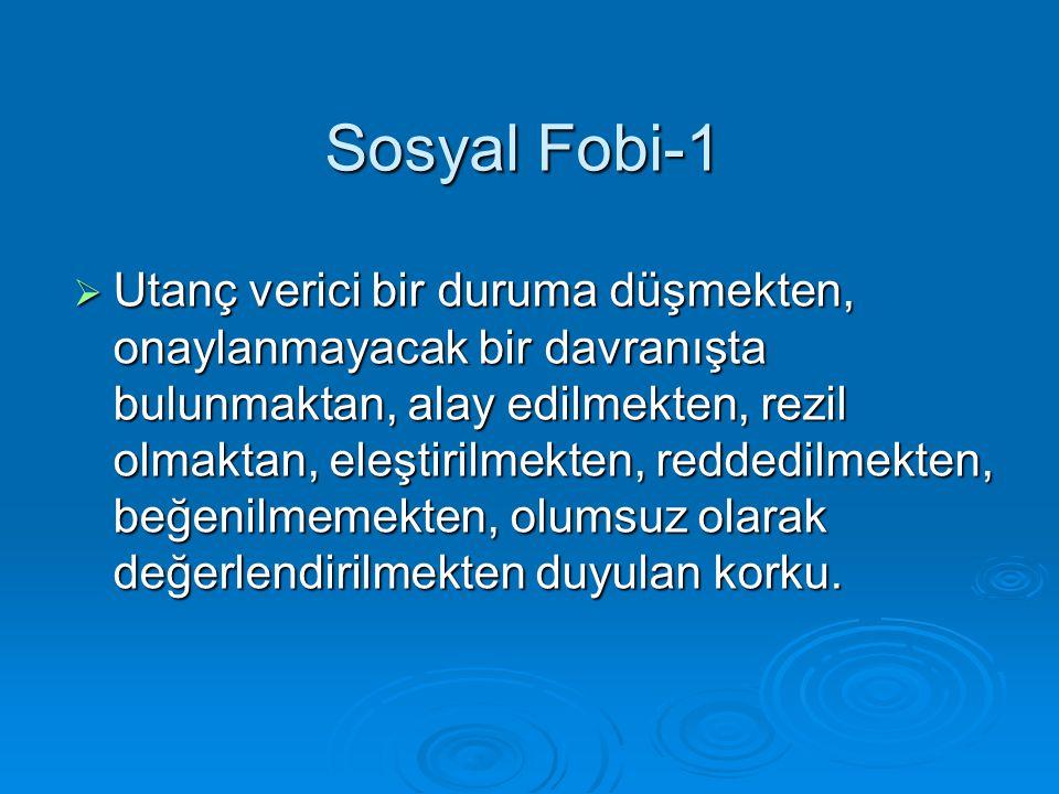 Sosyal Fobi-1