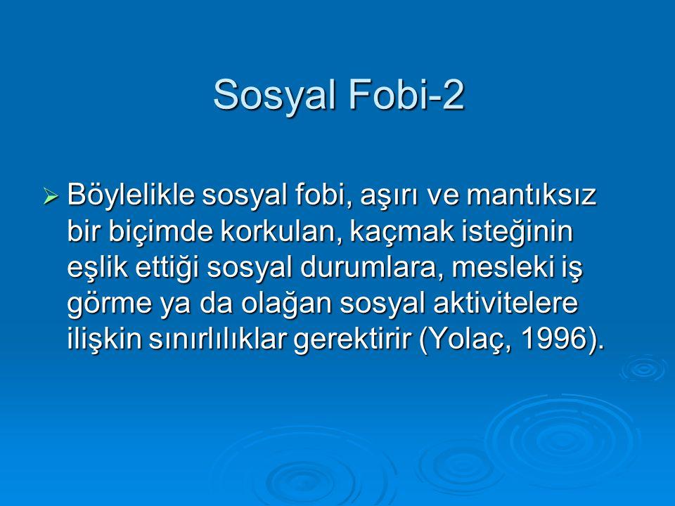Sosyal Fobi-2