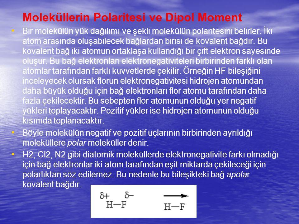 Moleküllerin Polaritesi ve Dipol Moment