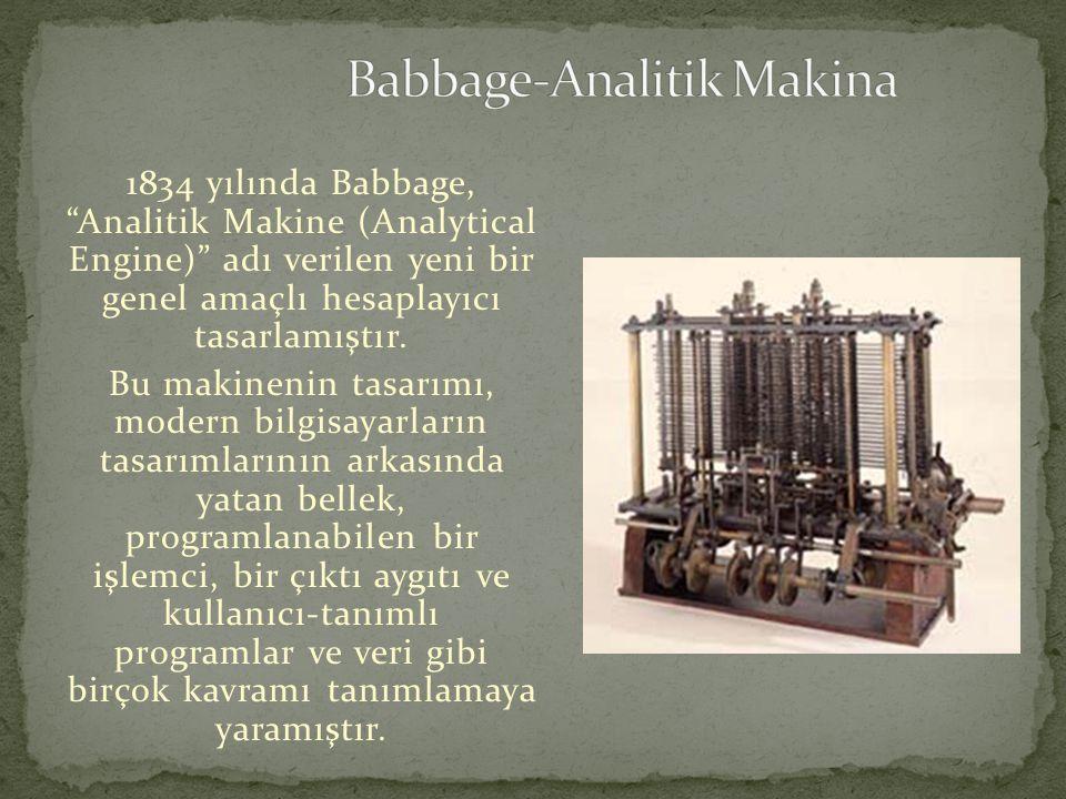 Babbage-Analitik Makina