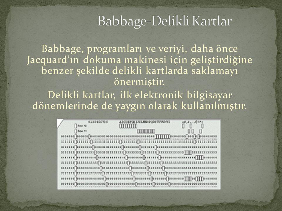 Babbage-Delikli Kartlar