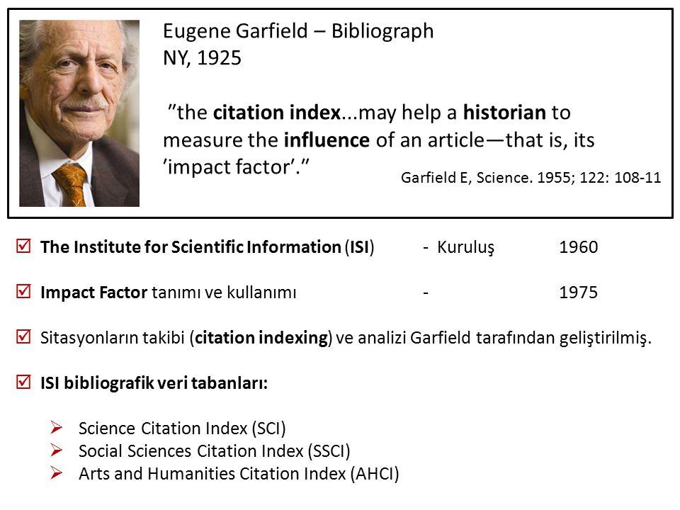Eugene Garfield – Bibliograph NY, 1925