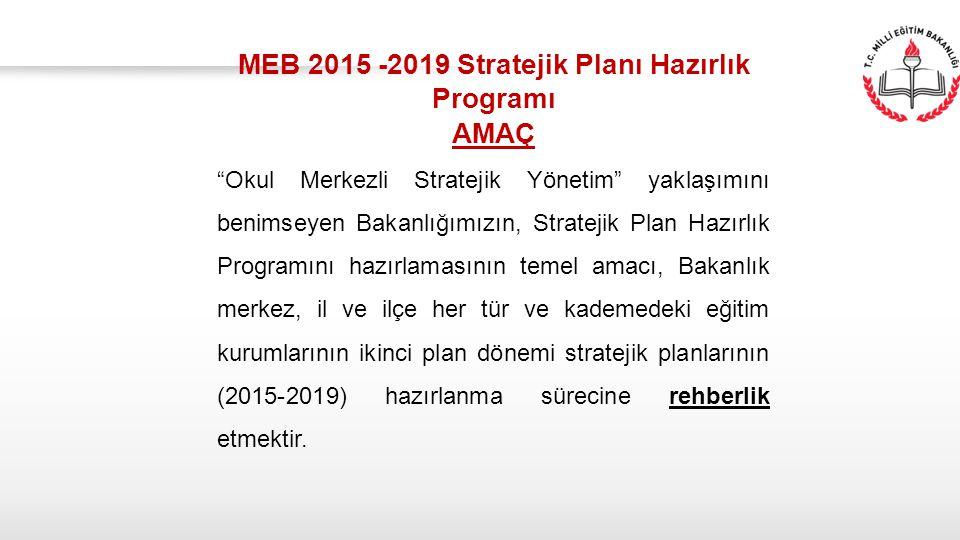 MEB 2015 -2019 Stratejik Planı Hazırlık Programı