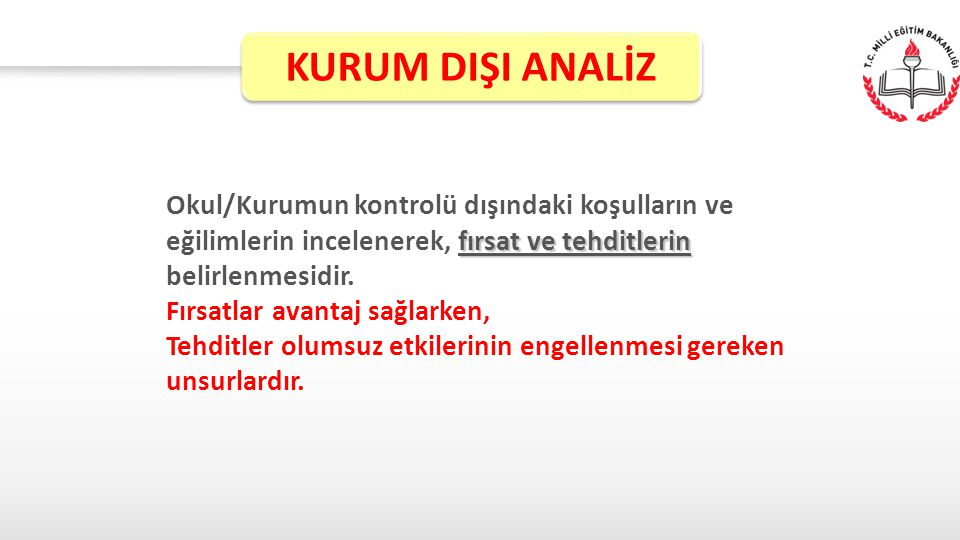 KURUM DIŞI ANALİZ
