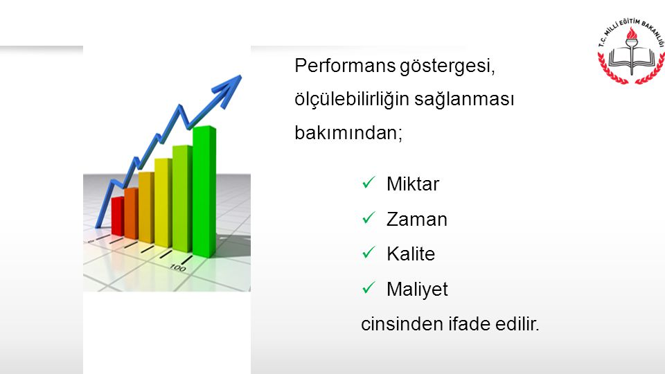 Performans göstergesi, ölçülebilirliğin sağlanması bakımından;