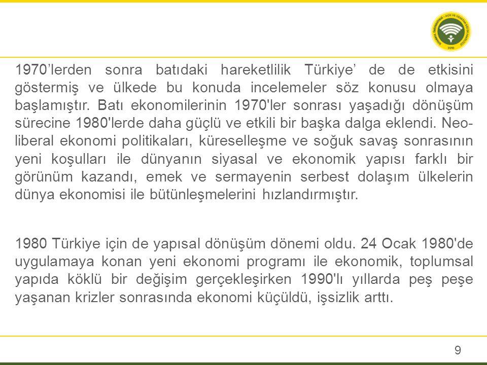 Türkiye İstatistik Kurumunun (TUİK) 2004 Yoksulluk Çalışması verileri ülkede yoksulluğun özellikle eğitim düzeyi düşük olanlar, yevmiyeliler, ücretsiz aile işçileri, işsizler ve tarım, inşaat sektöründe çalışanlar arasında yaygın olduğunu göstermektedir.