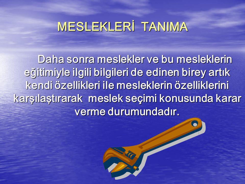 MESLEKLERİ TANIMA