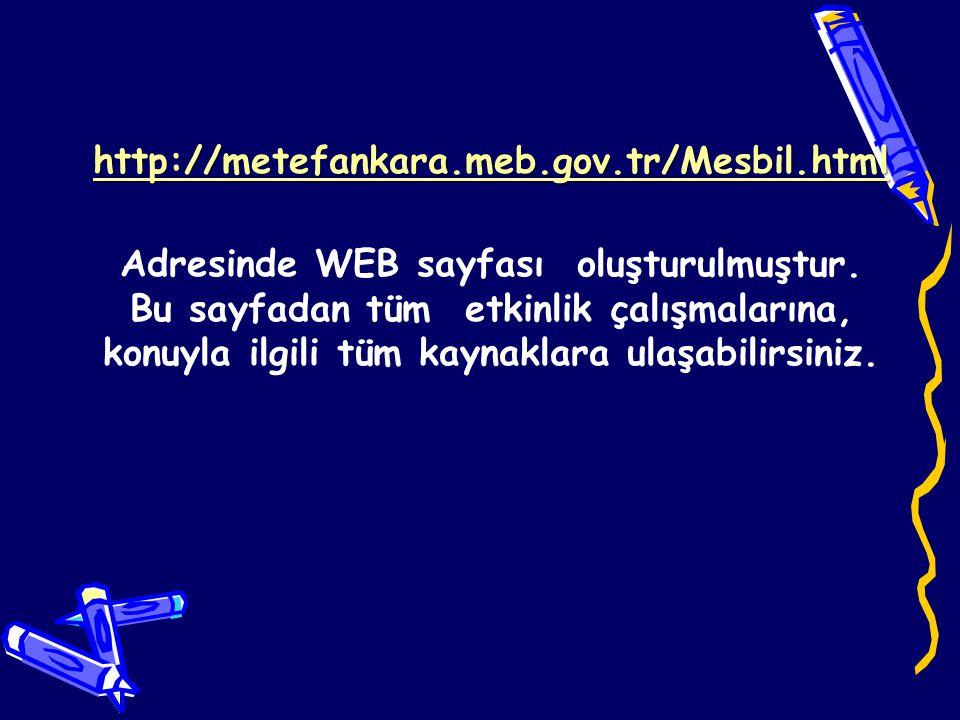 Adresinde WEB sayfası oluşturulmuştur.