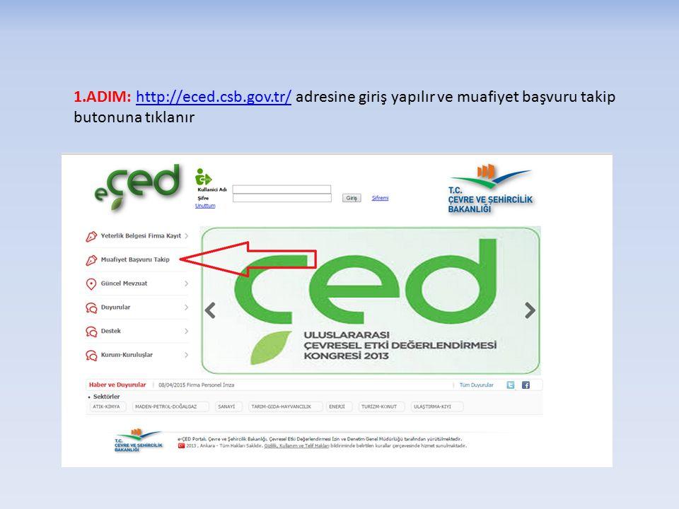 1. ADIM: http://eced. csb. gov