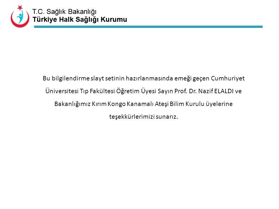 Bu bilgilendirme slayt setinin hazırlanmasında emeği geçen Cumhuriyet Üniversitesi Tıp Fakültesi Öğretim Üyesi Sayın Prof.