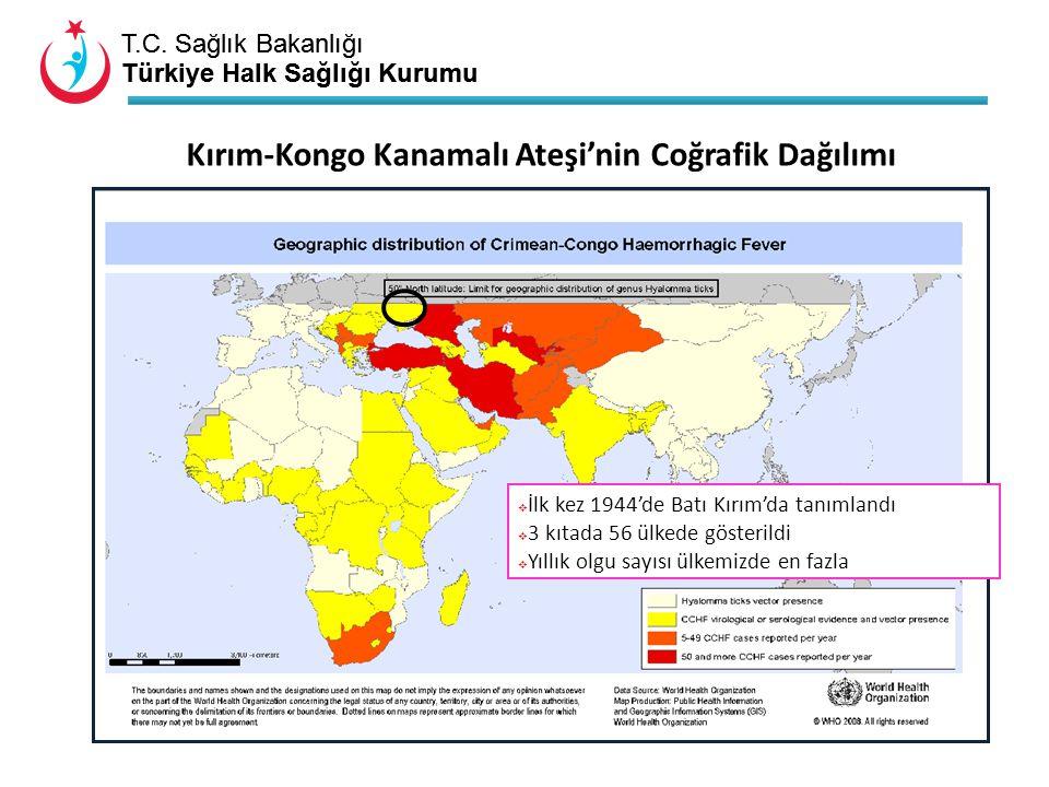 Kırım-Kongo Kanamalı Ateşi'nin Coğrafik Dağılımı