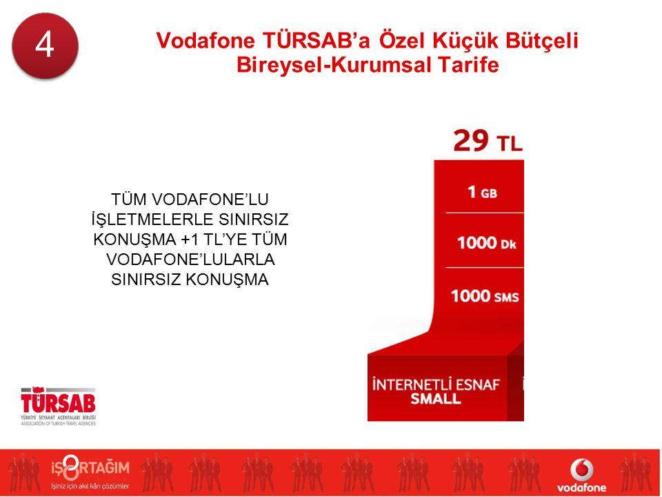 Vodafone TÜRSAB'a Özel Küçük Bütçeli Bireysel-Kurumsal Tarife