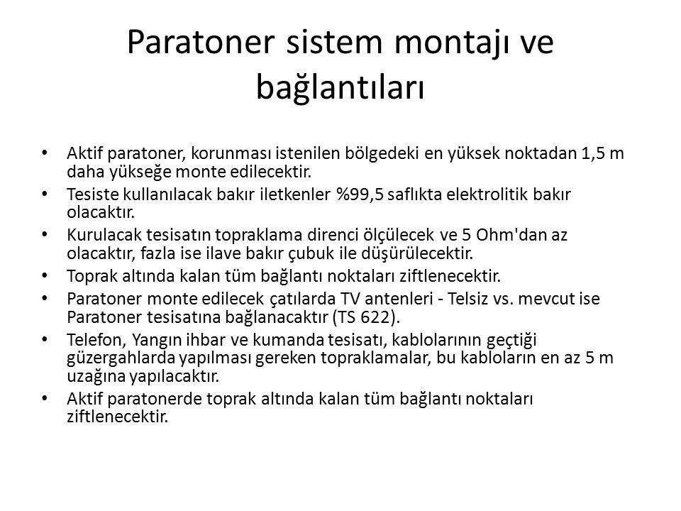 Paratoner sistem montajı ve bağlantıları