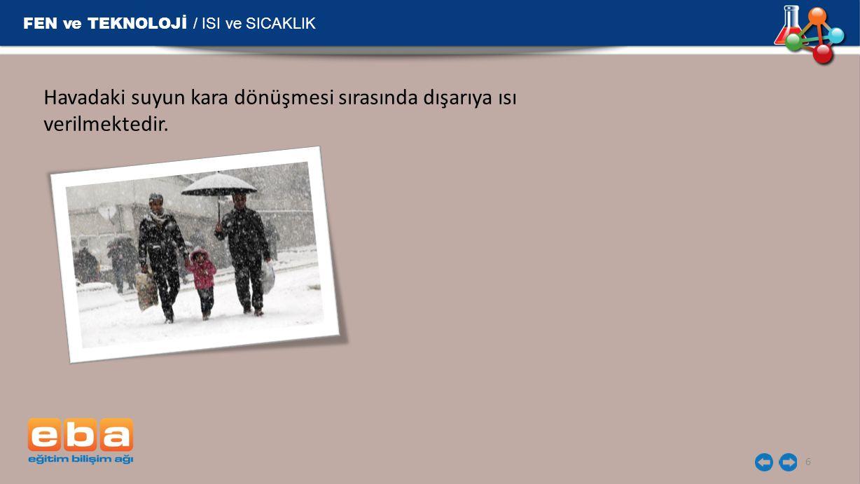 FEN ve TEKNOLOJİ / ISI ve SICAKLIK
