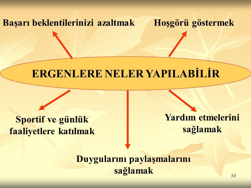 ERGENLERE NELER YAPILABİLİR