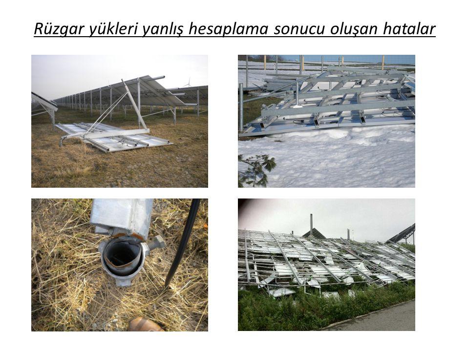 Rüzgar yükleri yanlış hesaplama sonucu oluşan hatalar