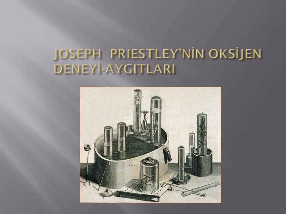 JOSEPH PRIESTLEY'NİN OKSİJEN DENEYİ-AYGITLARI