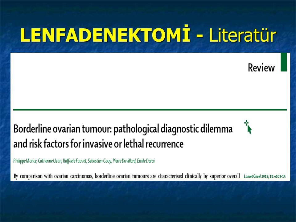 LENFADENEKTOMİ - Literatür