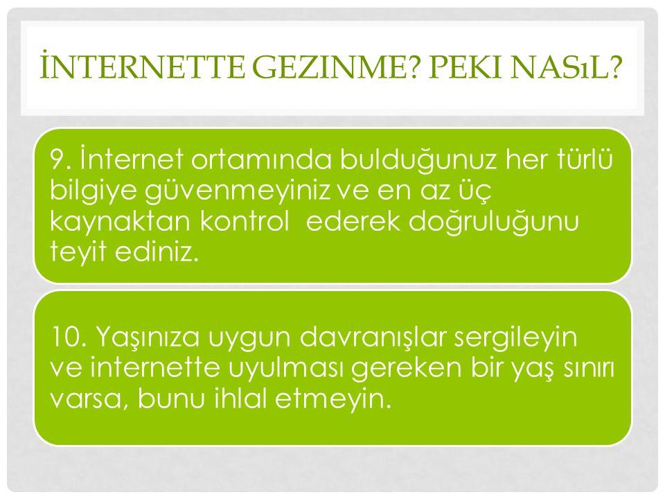 İnternette Gezinme Peki Nasıl