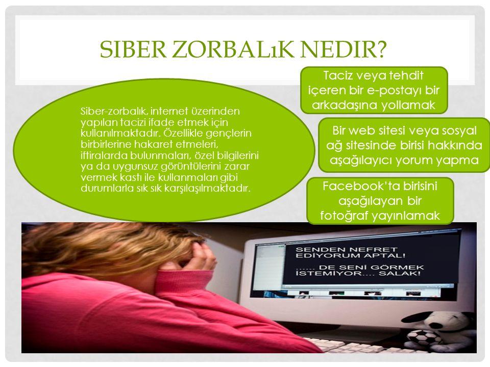 Siber Zorbalık Nedir Taciz veya tehdit içeren bir e-postayı bir arkadaşına yollamak.