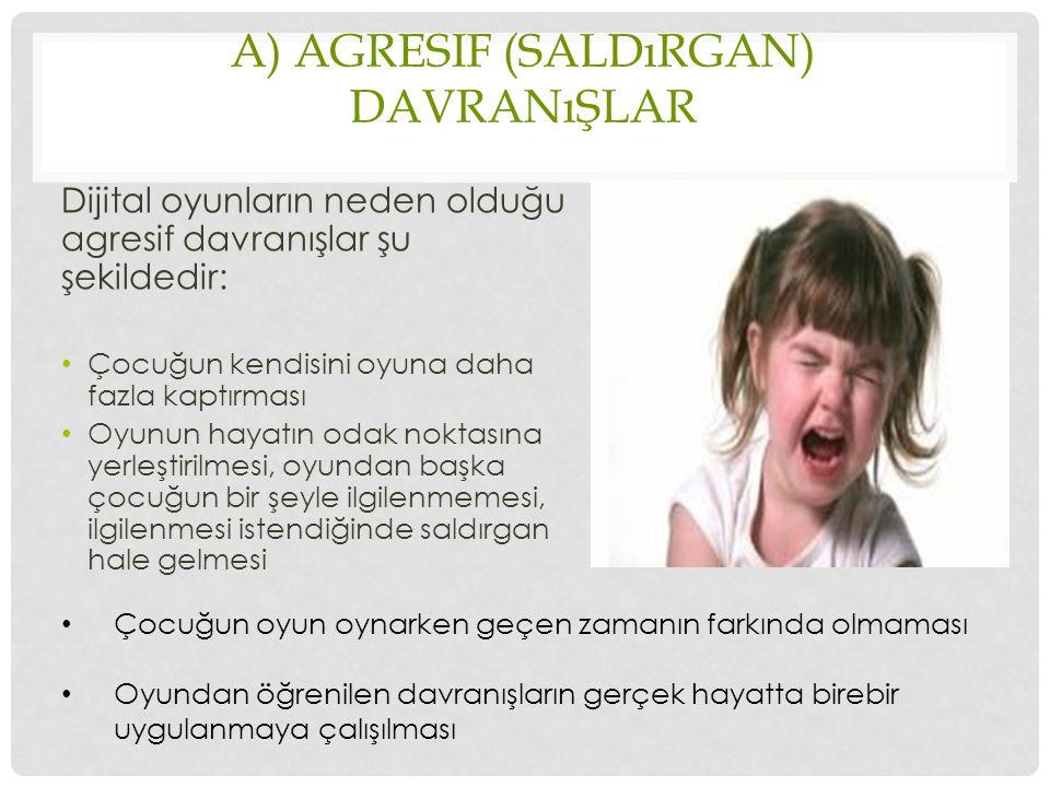a) Agresif (Saldırgan) Davranışlar