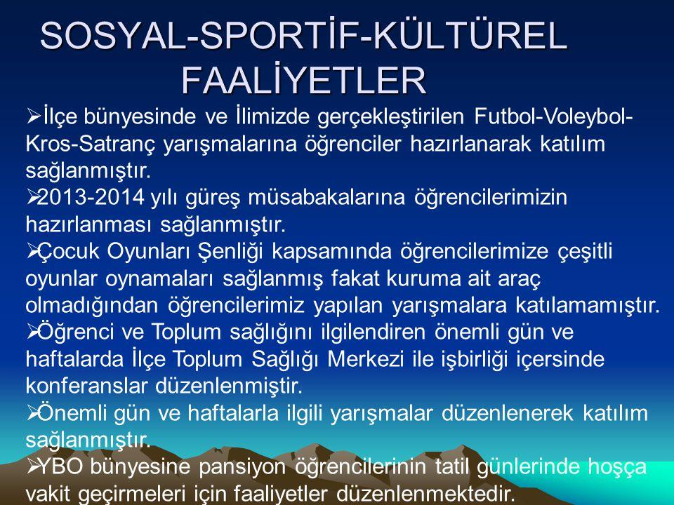 SOSYAL-SPORTİF-KÜLTÜREL FAALİYETLER