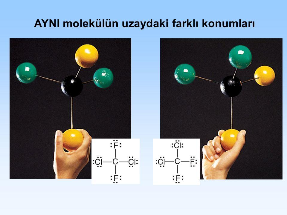 AYNI molekülün uzaydaki farklı konumları