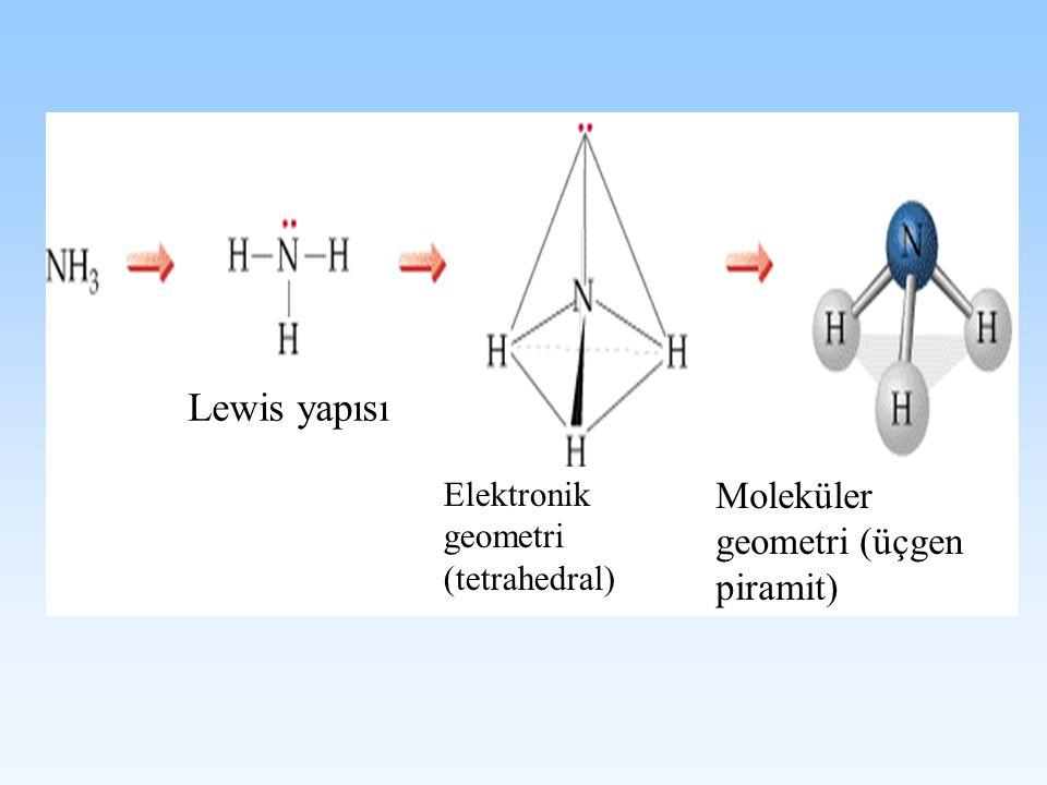 Lewis yapısı Moleküler geometri (üçgen piramit)
