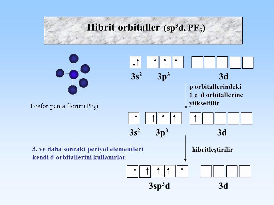 Hibrit orbitaller (sp3d, PF5)