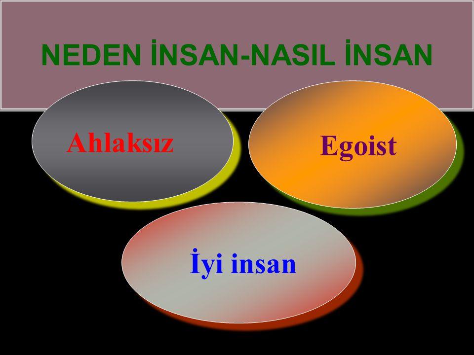 NEDEN İNSAN-NASIL İNSAN