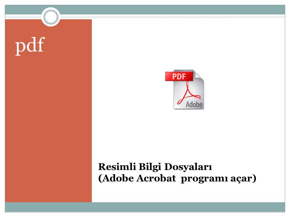 Resimli Bilgi Dosyaları (Adobe Acrobat programı açar)