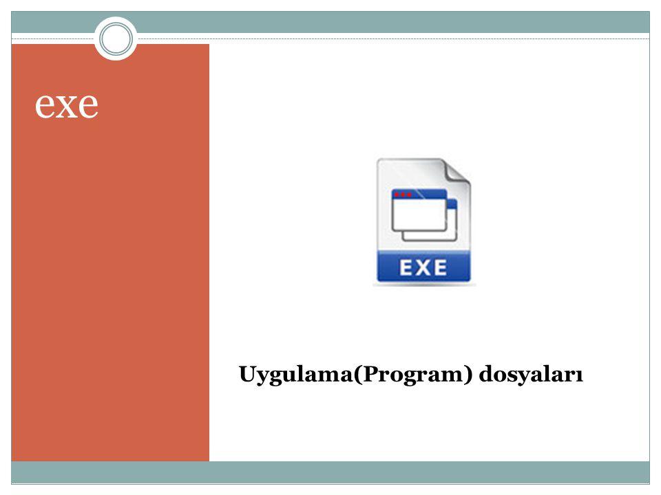 Uygulama(Program) dosyaları