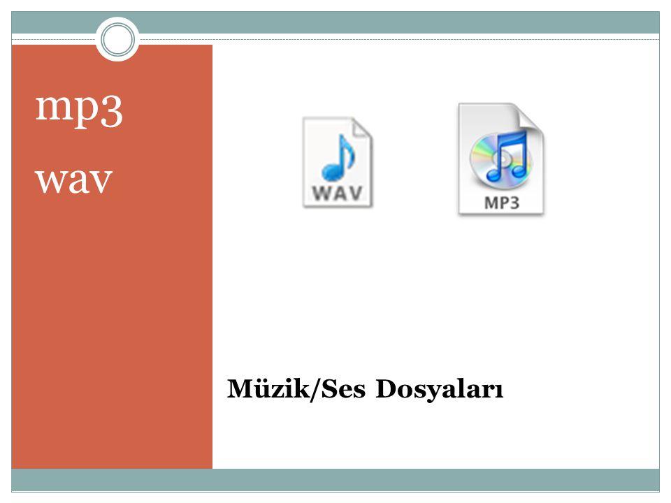 mp3 wav Müzik/Ses Dosyaları