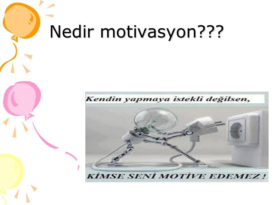 Nedir motivasyon