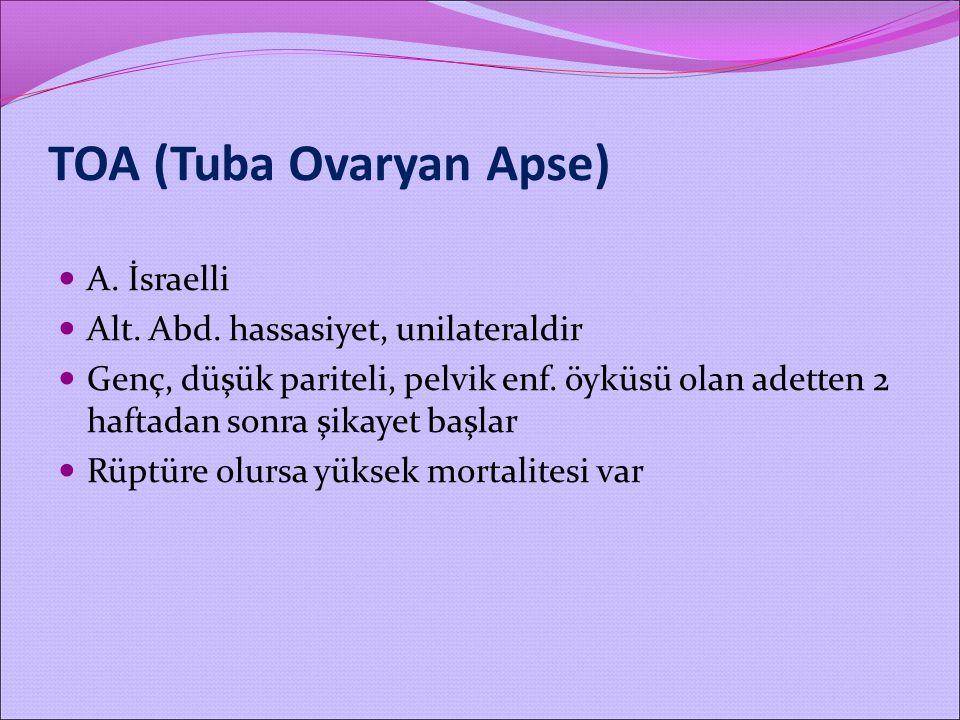 TOA (Tuba Ovaryan Apse)