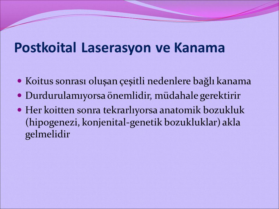 Postkoital Laserasyon ve Kanama