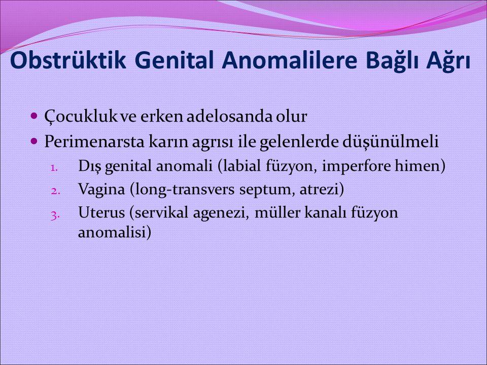 Obstrüktik Genital Anomalilere Bağlı Ağrı