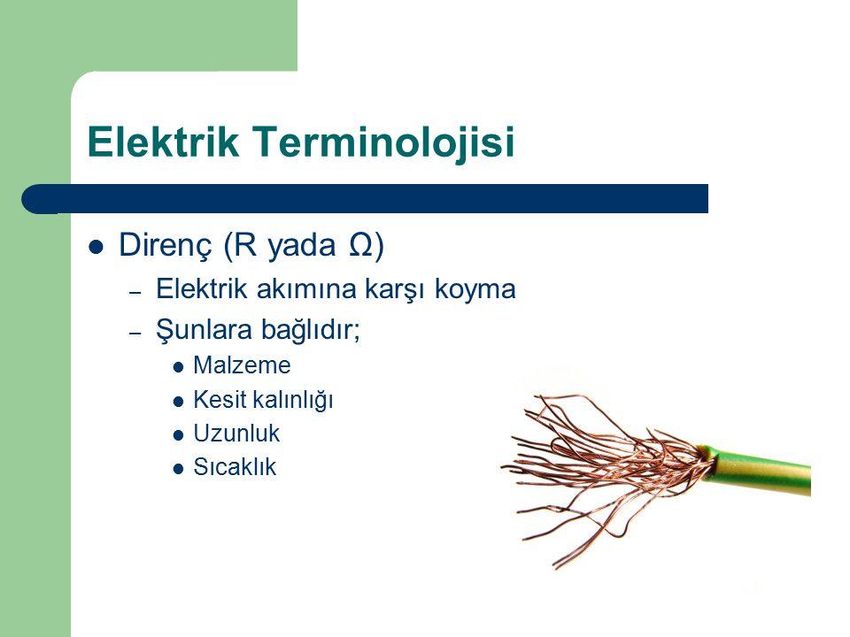 Elektrik Terminolojisi