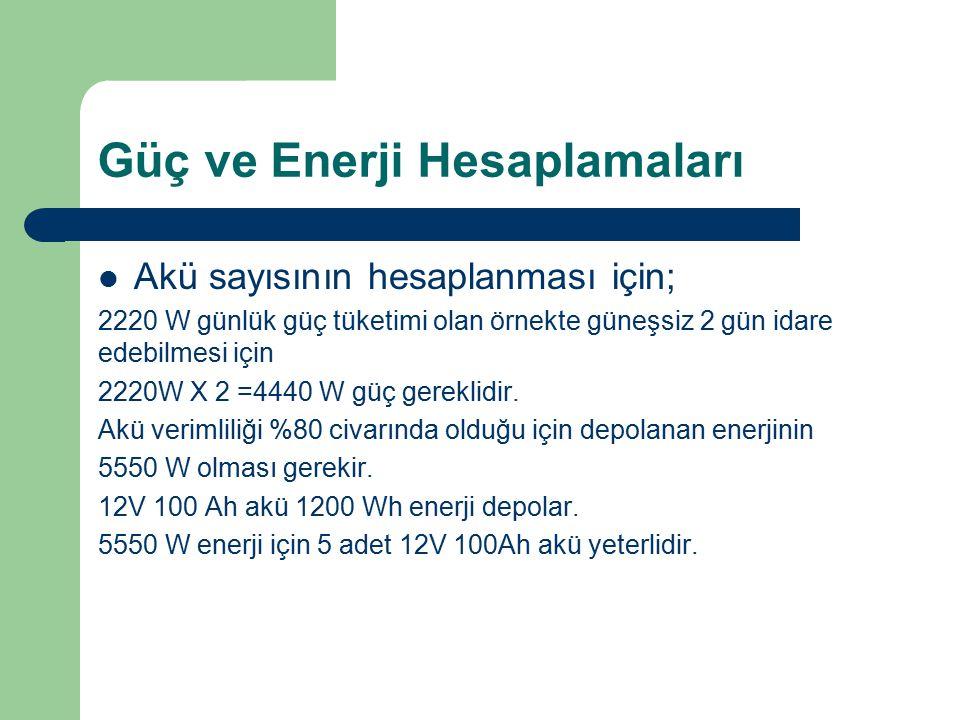 Güç ve Enerji Hesaplamaları