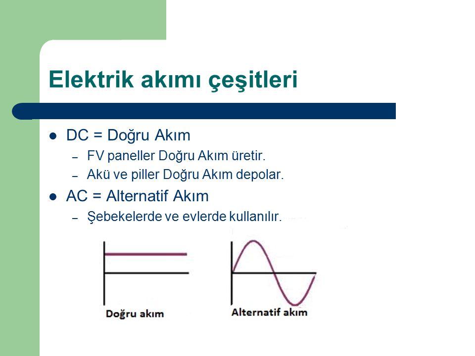 Elektrik akımı çeşitleri