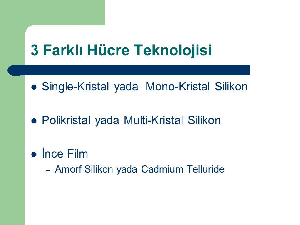 3 Farklı Hücre Teknolojisi