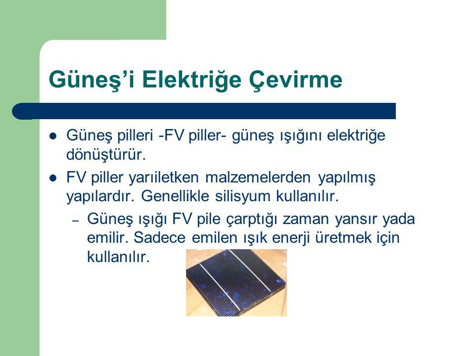 Güneş'i Elektriğe Çevirme