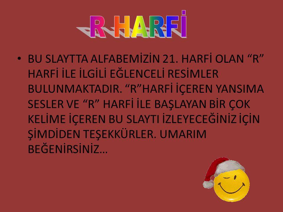 R HARFİ