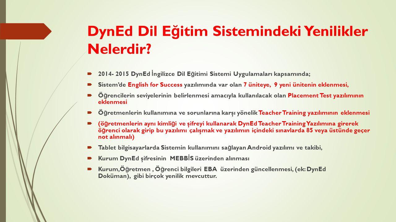 DynEd Dil Eğitim Sistemindeki Yenilikler Nelerdir