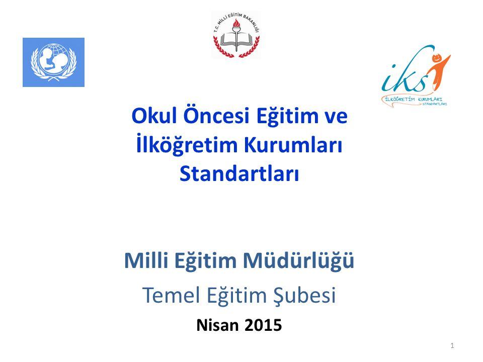 Milli Eğitim Müdürlüğü Temel Eğitim Şubesi Nisan 2015