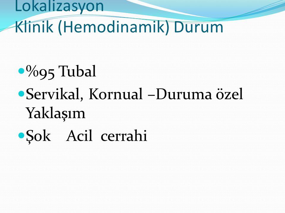 Lokalizasyon Klinik (Hemodinamik) Durum