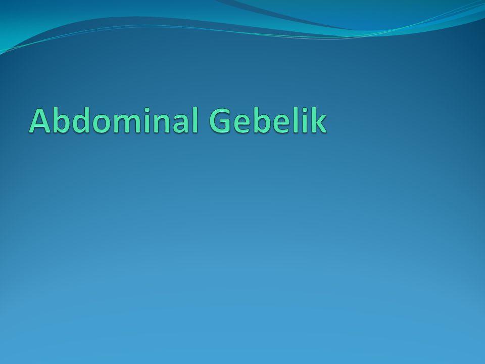 Abdominal Gebelik
